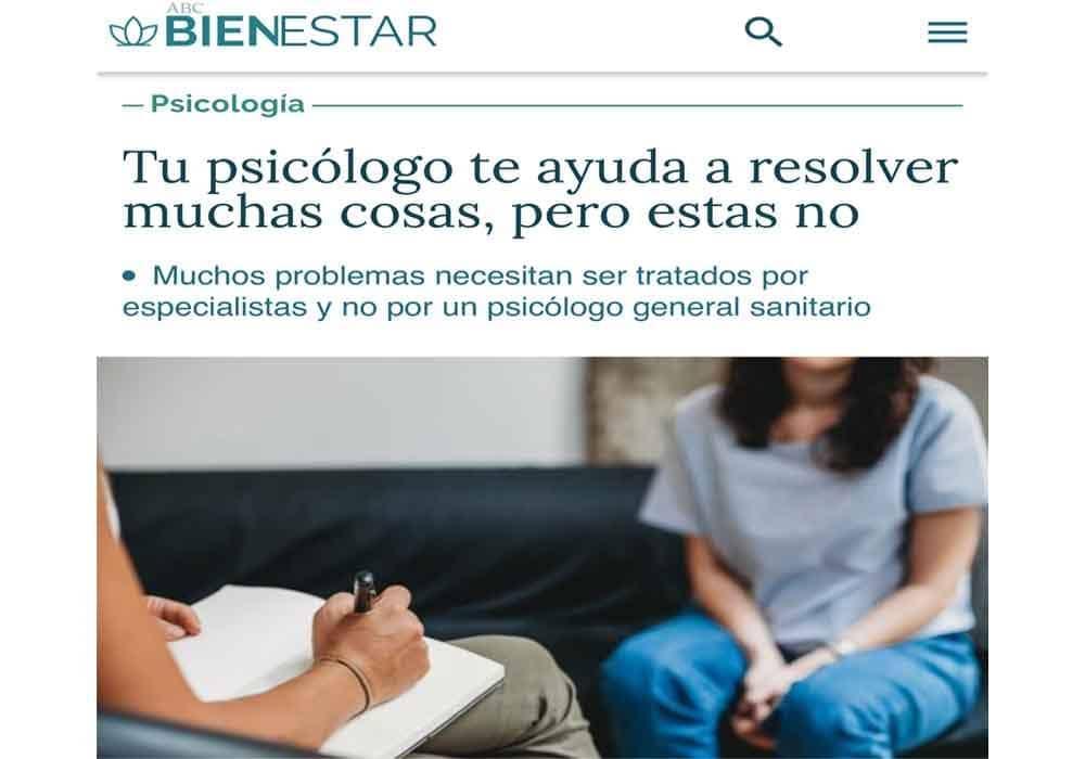 psicologos medios comunicacion ABC bienestar en qué te ayuda un psicologo