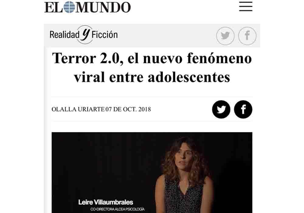 psicologos medios comunicacion EL Mundo fenomeno viral adolescentes