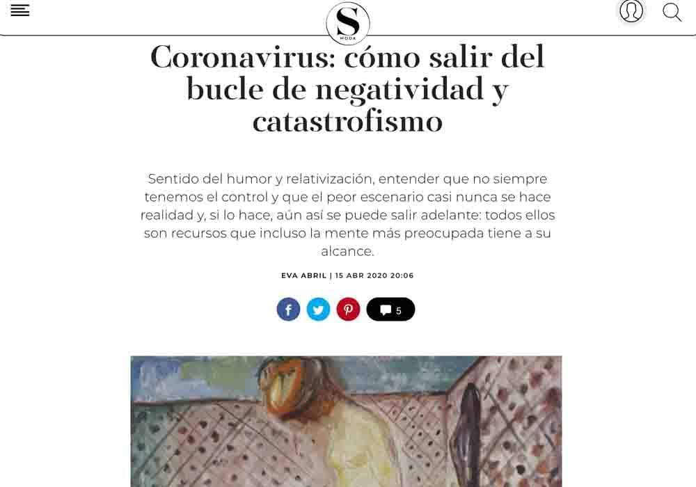 psicologos medios comunicacion El País Smoda coronavirus salir bucle negatividad
