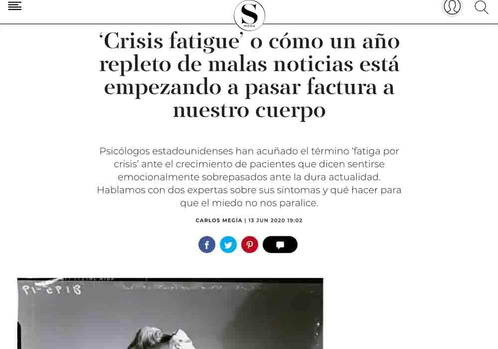 psicologos medios comunicacion El Pais Smoda crisis fatiga