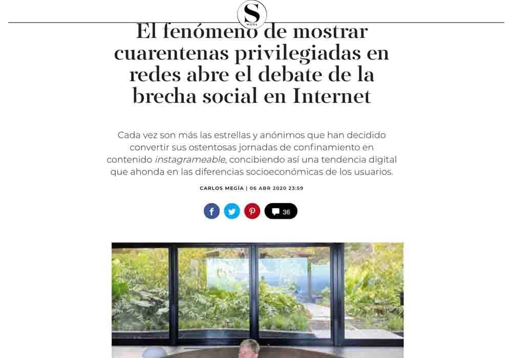 psicologos medios comunicacion El País SMODA cuarentenas privilegiadas en redes