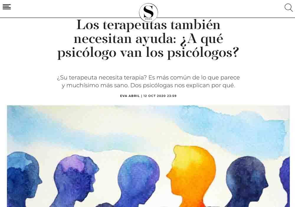psicologos medios comunicacion El País Smoda terapeutas van al psicologo