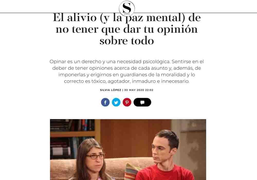 psicologos medios comunicacion El País SMODA no opinar sobre todo